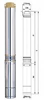 Насос скважинный центробежный Dongyin 4SDm8/18 ( 2,2 кВт., 180 л/мин)