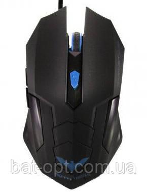 Мышь проводная Havit HV-MS691 USB, черная/синяя