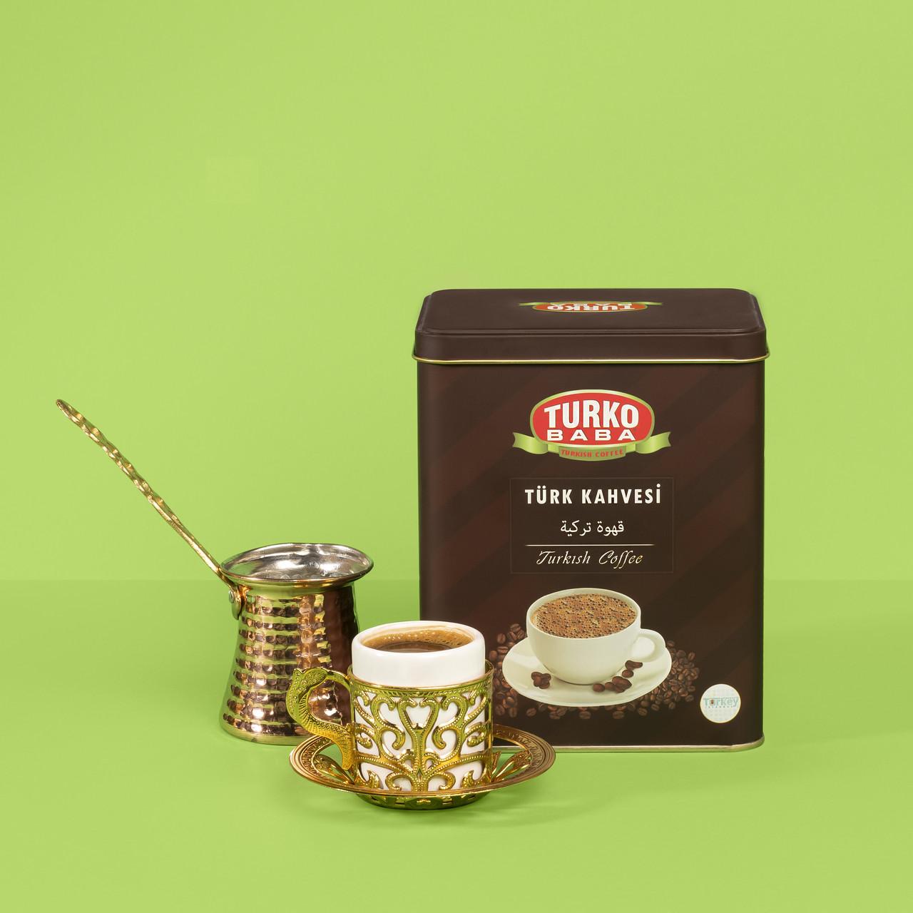 Турецький кави дрібного помелу для варіння турки TurkoBaba