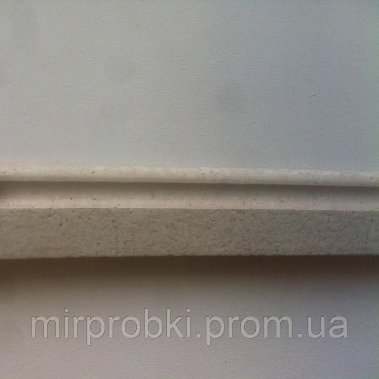 Плинтус пробковый белый  P 60 white 900*60*15 мм  - МИР ПРОБКИ в Одессе