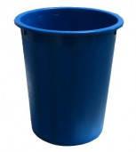 Корзина для бумаг без прорезей для мусора Кип, цвет синий