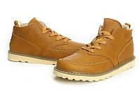 Мужские кожаные зимние ботинки CAT