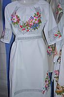 """Вишите жіноче плаття """"Шипшина"""" біле"""