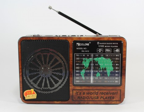 Радіоприймач Колонка MP3 USB Golon RX 1412