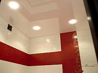 Натяжной потолок Ванная 5 м.кв. Белый глянец