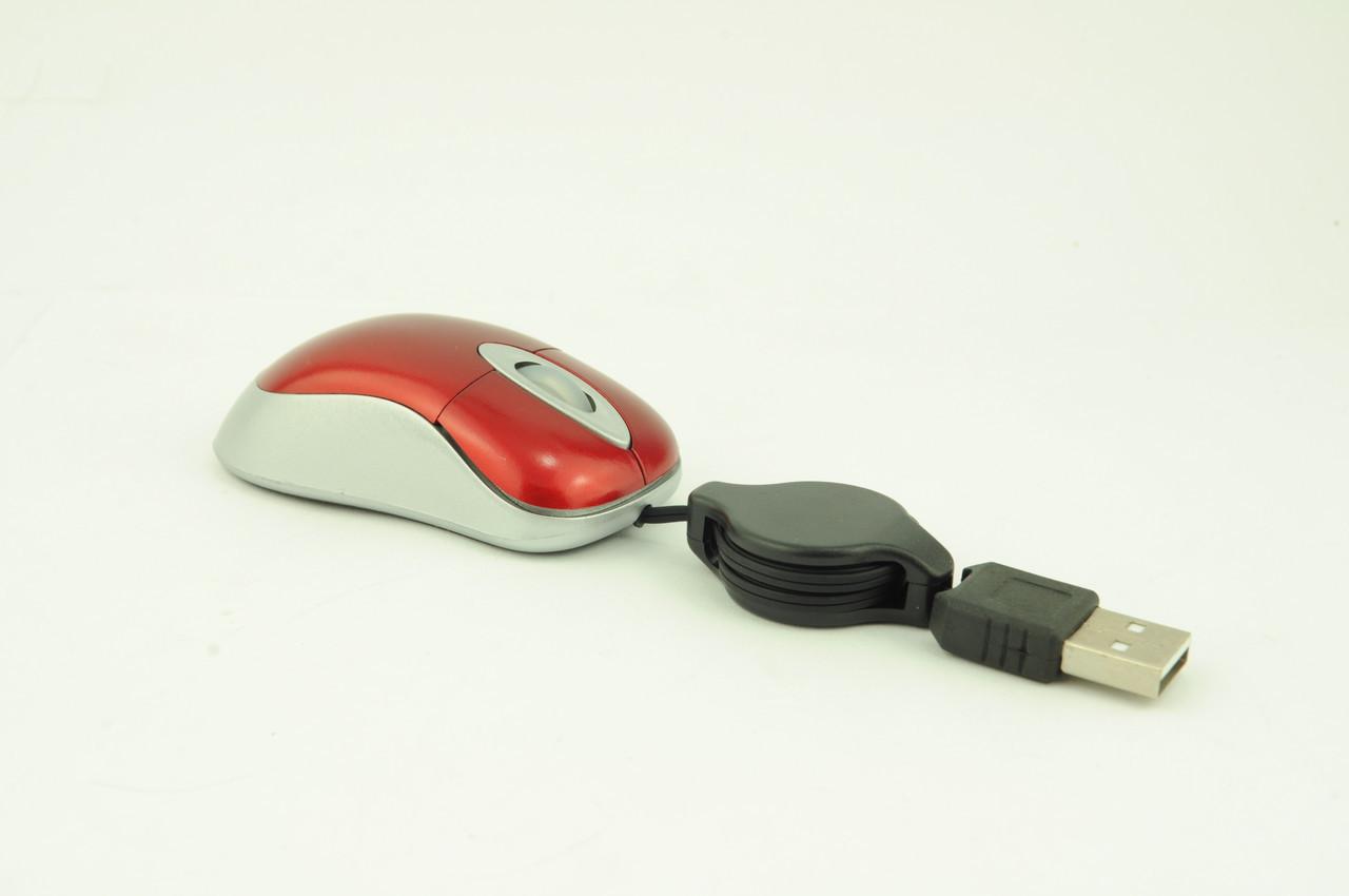 Миша дротова MT-S06 mini USB червона