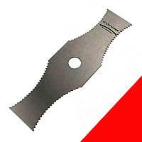 Нож для мотокосы 2 зуба 2Тx305мм. Нож 2 лопастный для мотокос. Нож для мотокосы