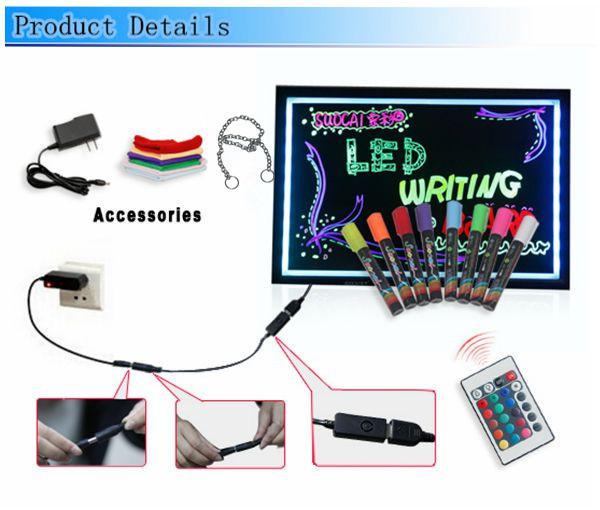 FLUORECENT BOARD 40*60 + adapter + controller Світиться борд. LED дошка Fluorecent Board. Дошка для маркера
