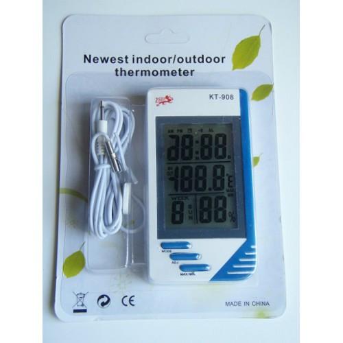 Термометр, Гігрометр Годинник виносний датчик КТ-908
