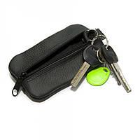 Кожаная ключница-кошелек Gofin на два отделения Черная SKG-10059, КОД: 1356641