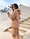 Костюм женский с шортами Турция   50-52, 54-56 мокко, меланж, фото 4
