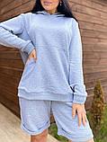 Костюм женский с шортами Турция   50-52, 54-56 мокко, меланж, фото 5