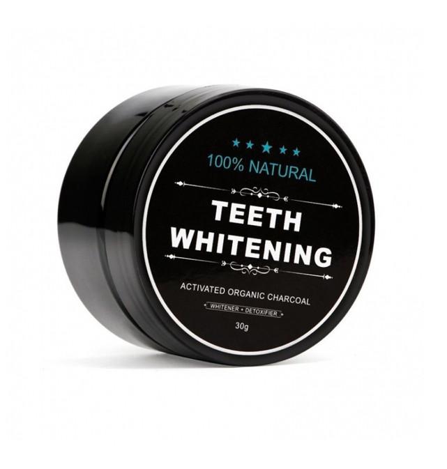 Вибілюючий порошок для зубів Teeth Whitening чорний, органічний, 30 гр