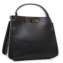 Черная женская сумка. Сумочка через плечо. Кожаная сумка. С214