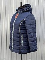 Демисезонная женская куртка из плащевки с капюшоном большие размеры 54-72, модель Стиль.