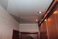 Натяжной потолок Коридор 8 м.кв. Белый глянец