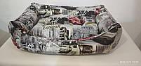 Лежак Premium в ткани Антикоготь 70х50см, Лежаки, лежак, лежак для кошки, лежак для собак, фото 3