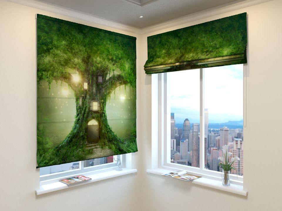 Римські штори казково дерево