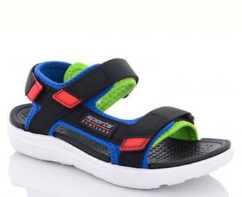 Детские спортивные сандалии мальчикам, синие текстильные босоножки