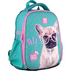 Рюкзак шкільний каркасний KITE Education Studio Pets SP21-555S-1