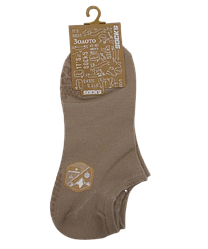 Шкарпетки короткі c силіконом 201 41-47 бежеві