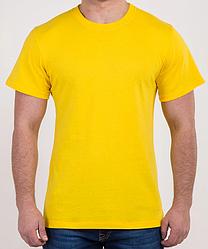 Футболка чоловіча жовта бавовна L,2XL
