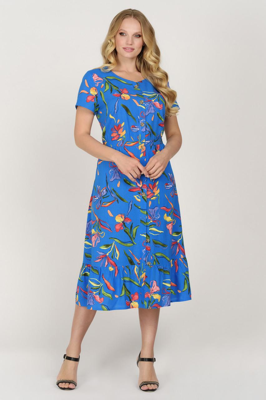 Платье Камыш синее 48
