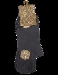 Шкарпетки короткі c силіконом 201 41-47 сірі