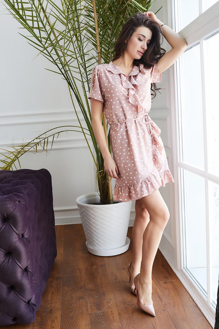 Платье Монако бежевое 44