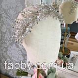 Гілочка з трендовими кристалами, веточка диадема на голову, фото 2