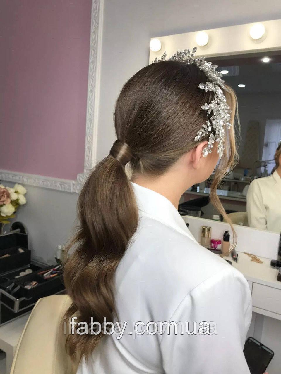 Гілочка з трендовими кристалами, веточка диадема на голову
