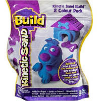 Песок для детского творчества - KINETIC SAND BUILD (голубой - 227 г, фиолетовый - 227 г)