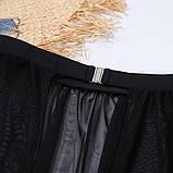 Стильний жіночий купальник на одне плече трійка - червоний, чорний, фото 10