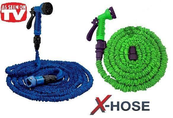 Садовый шланг для полива Xhose 22.5 Метра 75FT с распылителем X-Hose 22.5м