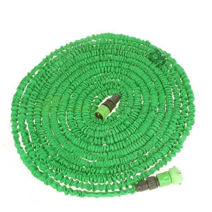 Садовый шланг для полива Xhose 22.5 Метра 75FT с распылителем X-Hose 22.5м Зеленый