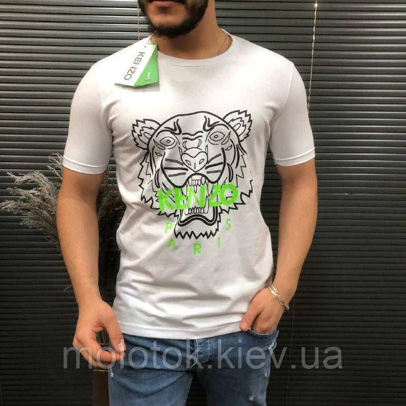 Мужская футболка Kenzo белая