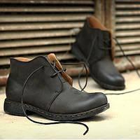 Модные мужские ботинки из натуральной кожи
