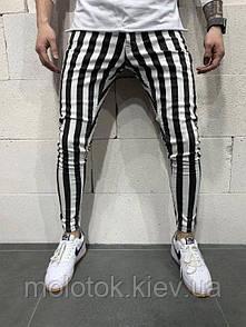 Мужские зауженные джинсы зебра Турция