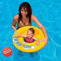 Intex Детский круг-плотик 59574 NP со спинкой, диаметром 67см, от 1 до 2 лет