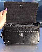 Сумка женская кожаная стильная черная FM3005A, фото 7