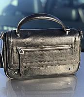 Сумка женская кожаная стильная черная FM3005A, фото 3