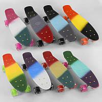 Скейт Пенни борд С 40309 Best Board, ВЫДАЁТСЯ ТОЛЬКО МИКС ВИДО, ВСВЕТ, доска=56см, колёса PU d=6см, 8 цветов
