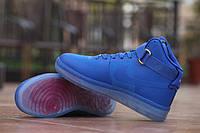 Мужские кроссовки Nike Air Force 1 Hi CMFT LUX QS, синие. Размер 42