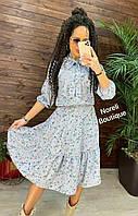 Платье женское, стильное, Adel, серое, 214-018