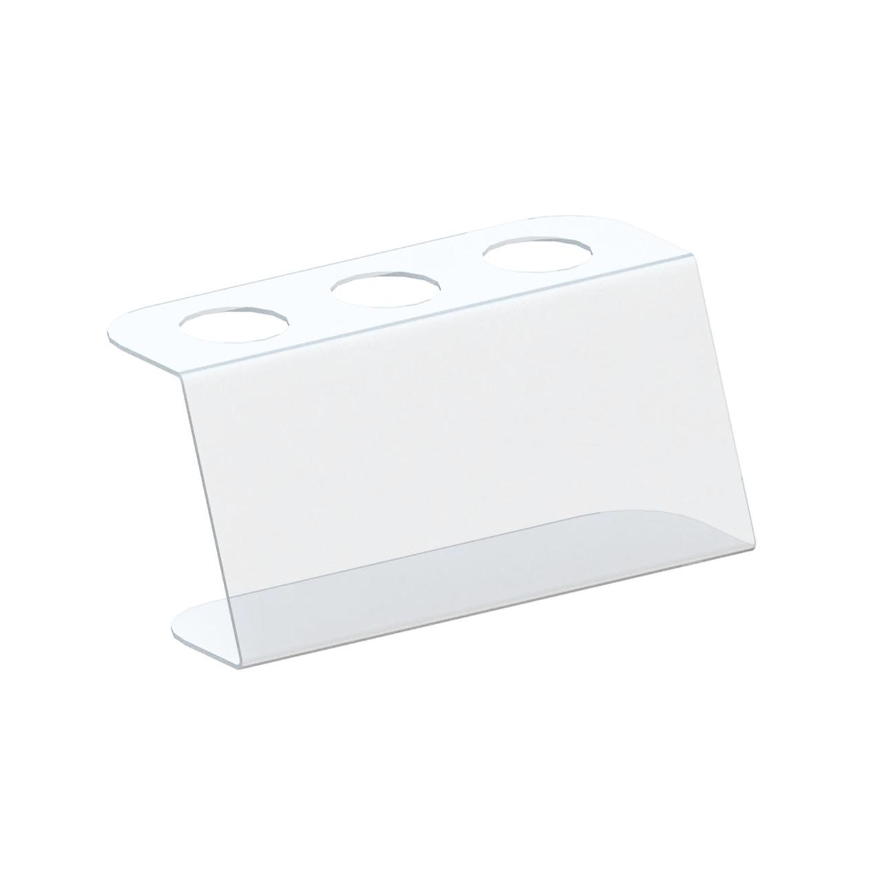 Підставка під 3 вафельних ріжка. Чорний акрил 3 мм.