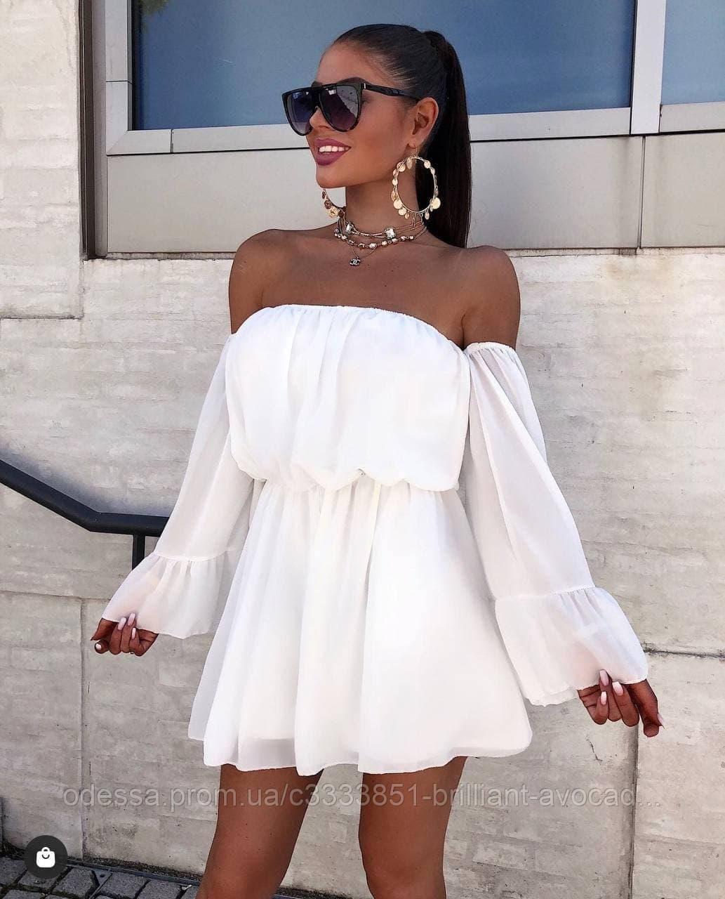 Женское шифоновое летнее красивое платье сарафан