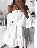 Женское летнее красивое платье с открытыми плечами