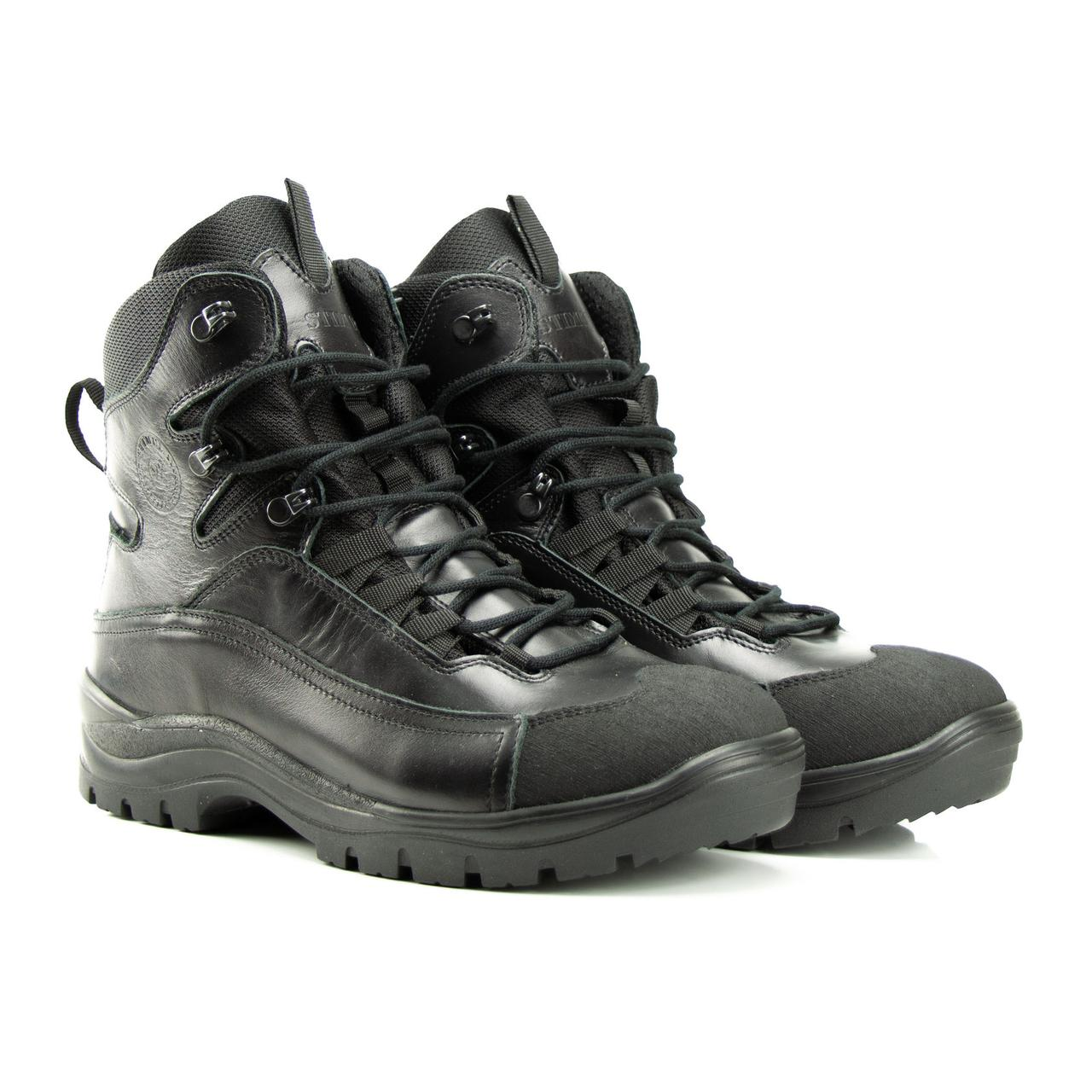 """Тактичні черевики на мембрані STIMUL """"OTAMAN-black"""" глянець зимові ( + 100 грн.), демісезонні"""