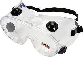 Очки защитные YATO прозрачные, с вентиляцией и регулировочным эластичным пояском
