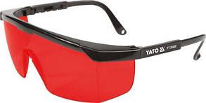Очки красные YATO для работы с лазерным приборами